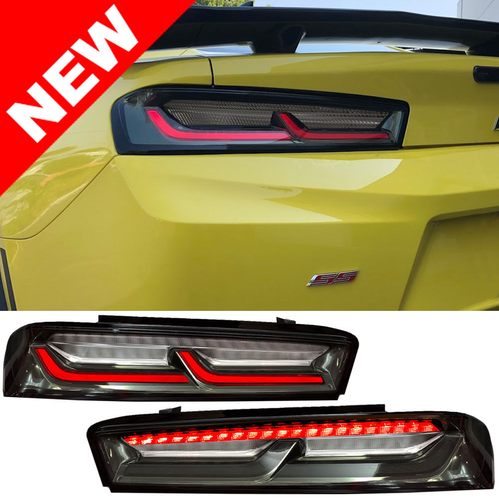Led Clear Smoked Tail Lights Red Amber Signals 16 18 Camaro