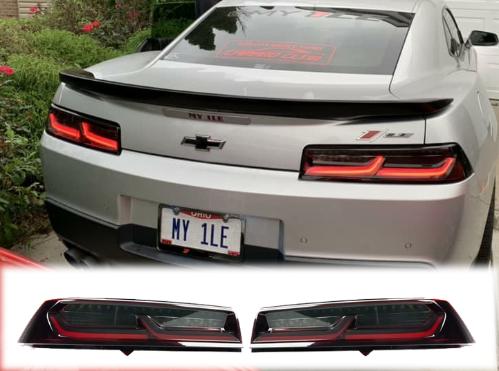 Hero Smoked Sequential Tail Lights Red Clear 2017 15 Camaro